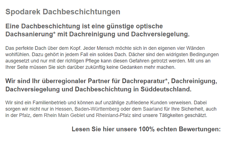 Dachbeschichtungen in 73450 Neresheim, Riesbürg, Lauchheim, Kirchheim (Ries), Dischingen, Nattheim, Bopfingen oder Heidenheim (Brenz), Königsbronn, Giengen (Brenz)