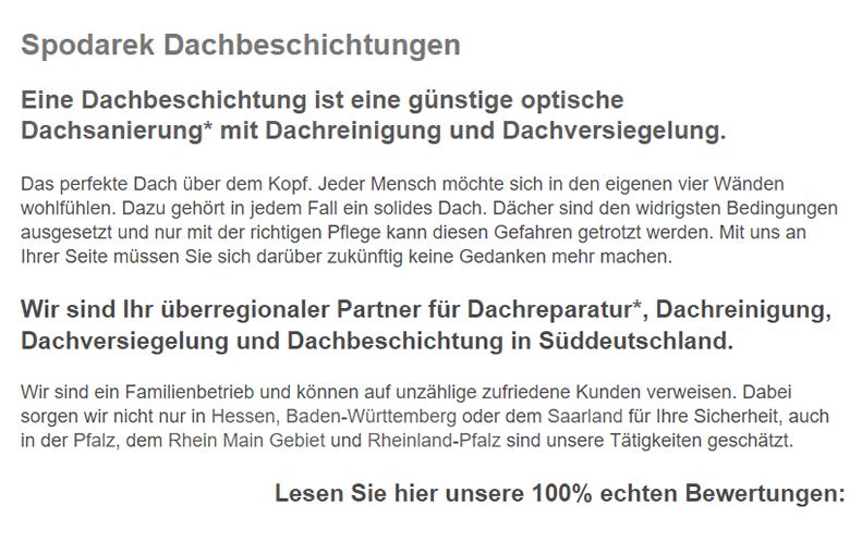Dachbeschichtungen in  Aachen, Roetgen (Tor zur Eifel), Übach-Palenberg, Aldenhoven, Würselen, Herzogenrath, Stolberg oder Alsdorf, Eschweiler, Baesweiler