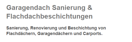 Garagendach Sanierung in  Neresheim, Dischingen, Nattheim, Bopfingen, Riesbürg, Lauchheim, Kirchheim (Ries) oder Heidenheim (Brenz), Königsbronn, Giengen (Brenz)