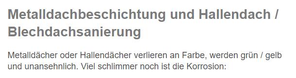 Hallendachsanierung aus  Ludwigshafen (Rhein), Ilvesheim, Brühl, Otterstadt, Mannheim, Neuhofen, Altrip oder Limburgerhof, Mutterstadt, Waldsee
